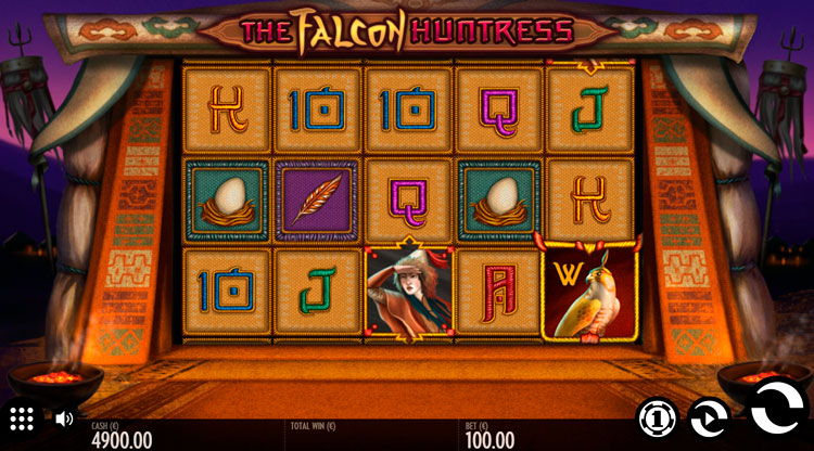 Infolgedessen können spielen Sie The Falcon Huntress