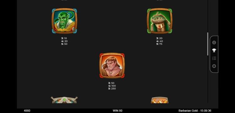 Barbarian gold варварское золото игровой автомат ставок