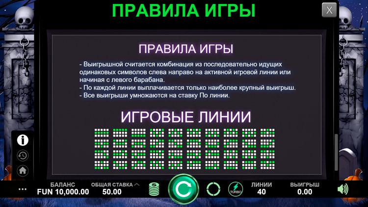 Линии выплат