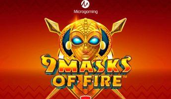 Microgaming выпустила красочный автомат 9 Masks of Fire в африканском стиле
