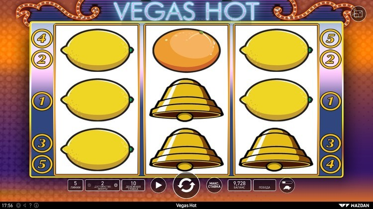 Vegas hot вегас хот игровой автомат